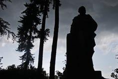 Statua della siluetta Fotografia Stock