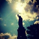 Statua della siluetta di libertà Fotografia Stock Libera da Diritti
