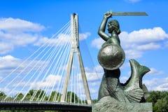 Statua della sirena di Varsavia Immagine Stock Libera da Diritti