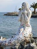 Statua della sirena sull'isola di Buyukada fotografie stock libere da diritti