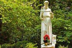 Statua della st Francis Fotografia Stock Libera da Diritti