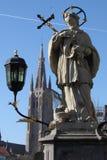 Statua della st John Nepomuk Immagini Stock Libere da Diritti