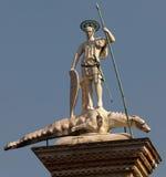 Statua della st Theodore Immagine Stock