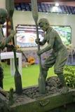 Statua della terra antica cinese della ram Immagini Stock