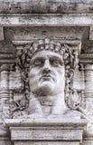 Statua della testa di Nerone dell'imperatore Fotografia Stock Libera da Diritti