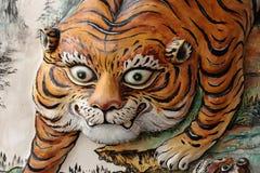 Statua della tigre Fotografia Stock Libera da Diritti
