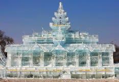 Statua della torre fatta di neve Fotografie Stock