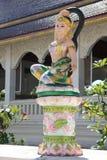 Statua delle donne al tempio fotografia stock