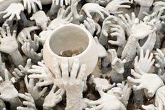 Statua delle mani dall'inferno immagini stock libere da diritti