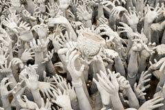 Statua delle mani dall'inferno fotografia stock libera da diritti