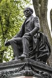 Statua dello storico francese famoso di Garneau a Québec, Canada immagine stock