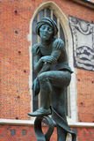 Statua dello studente povero Immagini Stock Libere da Diritti