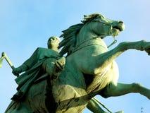 Statua di Absalon a Hojbro Plads Fotografia Stock Libera da Diritti