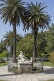 Statua di Achill dentro l'edificio di Achilleion fotografia stock libera da diritti