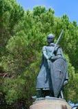 Statua di Afonso Henriques, Lisbona, Portogallo immagine stock