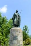 Statua di Afonso I, Guimarães, Portogallo fotografia stock