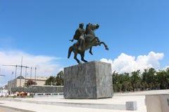 Statua di Alessandro Magno, Salonicco, Grecia Immagine Stock