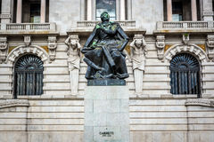 Statua di Almeida Garrett Immagini Stock