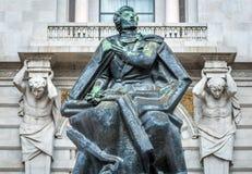 Statua di Almeida Garrett Fotografia Stock Libera da Diritti