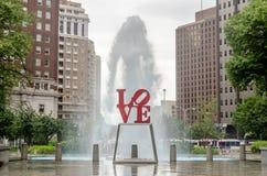 Statua di amore in Filadelfia Immagini Stock Libere da Diritti