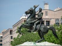 Statua di Andrew Jackson dalla battaglia di New Orleans in Lafay fotografia stock libera da diritti
