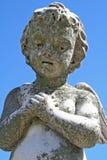Statua di angelo del bambino Fotografia Stock Libera da Diritti