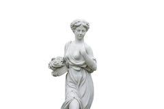 Statua di angolo isolata Fotografia Stock