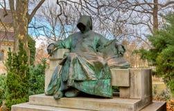 Statua di anonimo, castello di Vajdahunyad, Budapest Fotografia Stock