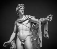 Statua di Apollo Belvedere immagine stock libera da diritti