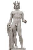 Statua di Apollo isolata Immagini Stock