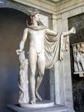 Statua di Apollo, museo del Vaticano Fotografia Stock