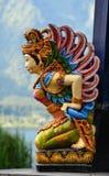 Statua di Apsara Dio per le decorazioni fotografia stock libera da diritti