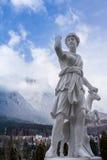 Statua di Artemis e dei cervi Fotografia Stock Libera da Diritti
