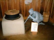 Statua di Ashi del lago di un monaco fotografia stock libera da diritti