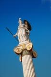 Statua di Athena a Atene Fotografia Stock