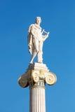 Statua di Athena davanti all'accademia di Atene Fotografia Stock