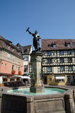 Statua di Auguste Bartholdi a Colmar, Francia Fotografia Stock