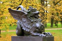 Statua di autunno Fotografie Stock