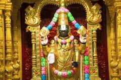 Statua di balaji di Tirupati, mandir di Swaminarayan di BAPS, Katraj Immagini Stock Libere da Diritti