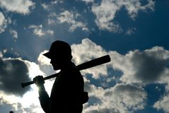 Statua di baseball Immagini Stock