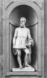 Statua di Benvenuto Cellini a Firenze Fotografia Stock Libera da Diritti