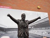 Statua di Bill Shankey allo stadio di Anfield, Liverpool, Regno Unito Immagine Stock
