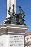 Statua di Bocage a Setubal, Portogallo Fotografie Stock Libere da Diritti