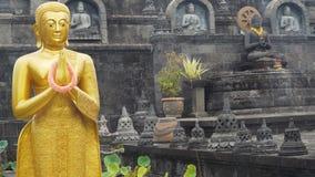 Statua di Buda nell'isola del tempio di Bali immagini stock libere da diritti