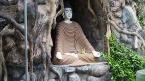 Statua di Buda nell'isola del tempio di Bali Immagini Stock