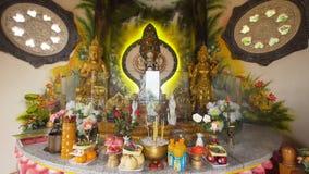 Statua di Buda nell'isola del tempio di Bali Immagine Stock Libera da Diritti