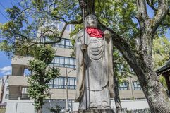Statua di Buddha al tempio Osaka Japan di Shitennoji immagine stock