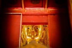 Statua di Buddha al tempio di Wat Phumin Nan Province Thailand immagine stock libera da diritti