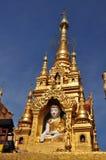 Statua di Buddha alla pagoda di Kyaik Hwaw Wun, Thanlyin, Myanmar Immagine Stock Libera da Diritti