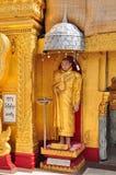 Statua di Buddha alla pagoda di Kyaik Hwaw Wun, Thanlyin, Myanmar Fotografia Stock Libera da Diritti